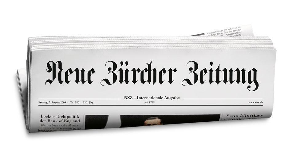 Neue Zürcher Zeitung über Regenschirme