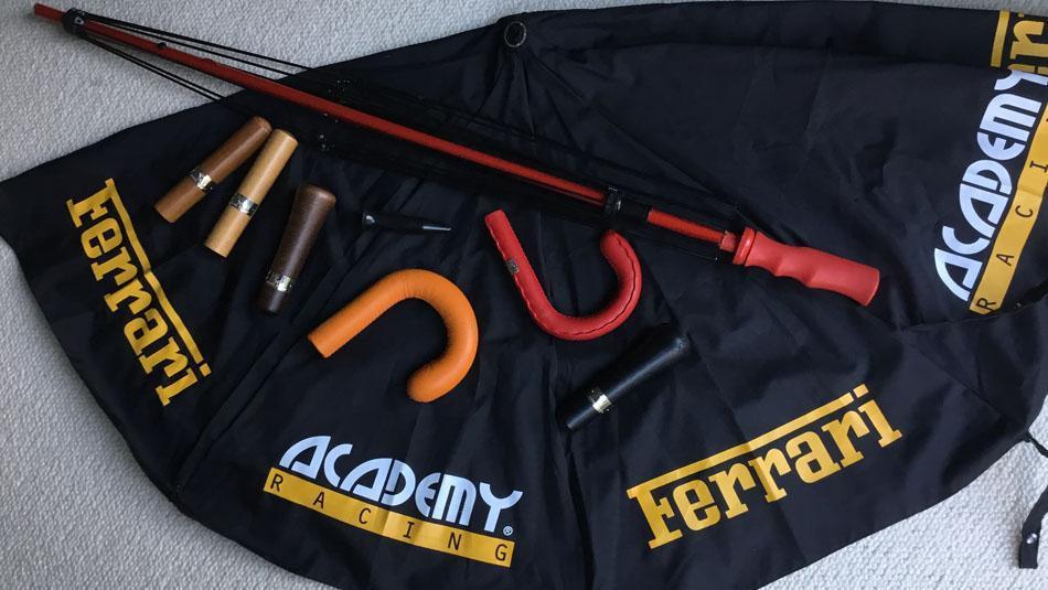 Schirme für die Ferrari Racing Academy