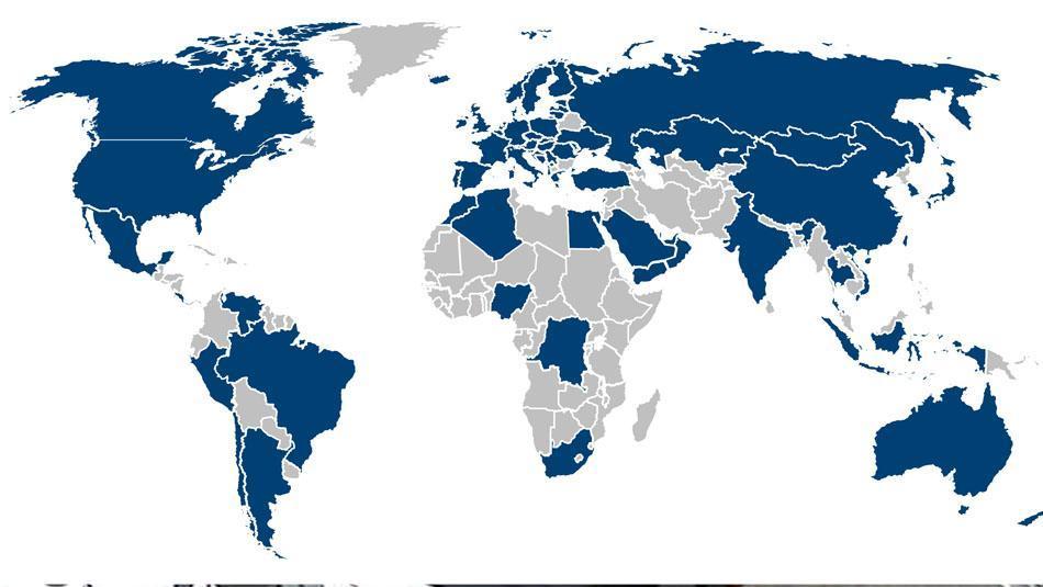 Schirm Oertel liefert in über 75 Länder
