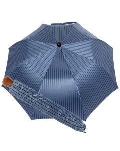 Oertel Handmade Taschenschirm - Ahorn Stripes bleu-marine