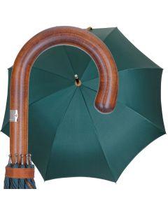 Oertel Handmade - Classic Maple Double Uni - petrol cognac | European Umbrellas