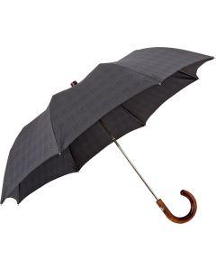 Oertel Handmade Taschenschirm - Ahorn glencheck grau | Schirm Oertel