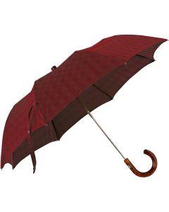 Oertel Handmade Taschenschirm - Ahorn glencheck rot | Schirm Oertel