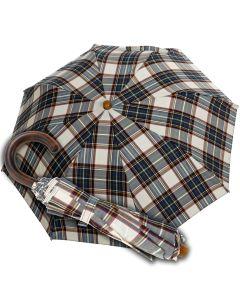 Oertel Handmade Taschenschirm - Tartan Baumwolle - beige | Schirm Oertel