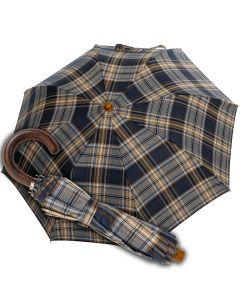 Oertel Handmade Taschenschirm - Tartan Baumwolle - blau | Schirm Oertel