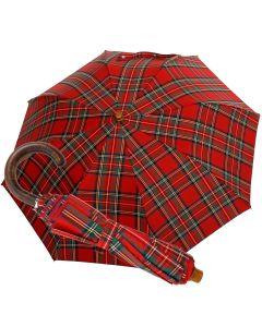 Oertel Handmade Taschenschirm - Tartan Baumwolle - rot | Schirm Oertel