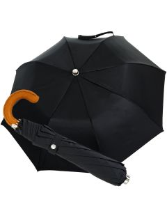 Oertel Handmade pocket umbrella - leather cognac | European Umbrellas