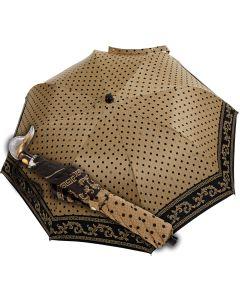 Marchesato - Pocket umbrella - baroque dots beige | European Umbrellas