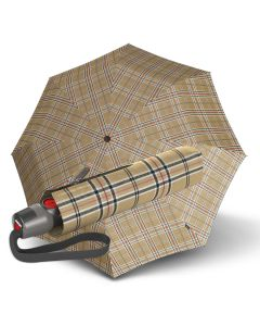 Knirps - Fiber T2 Duomatic - Tartan - beige | European Umbrellas