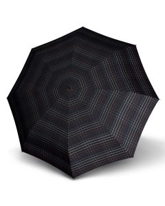 Knirps - T.200 Duomatic - Tartan - black | European Umbrellas