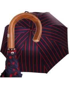 Oertel Handmade - Sport Stripes - navy-red | European Umbrellas