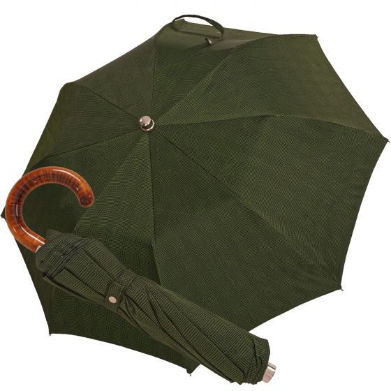 Oertel Handmade pocket umbrella maple - glencheck green | European Umbrellas