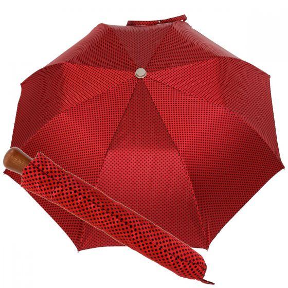 Oertel Handmade Taschenschirm - Ahorn Dots rot-blau