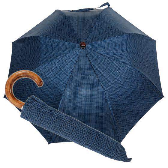 Oertel Handmade Taschenschirm - Ahorn glencheck blau