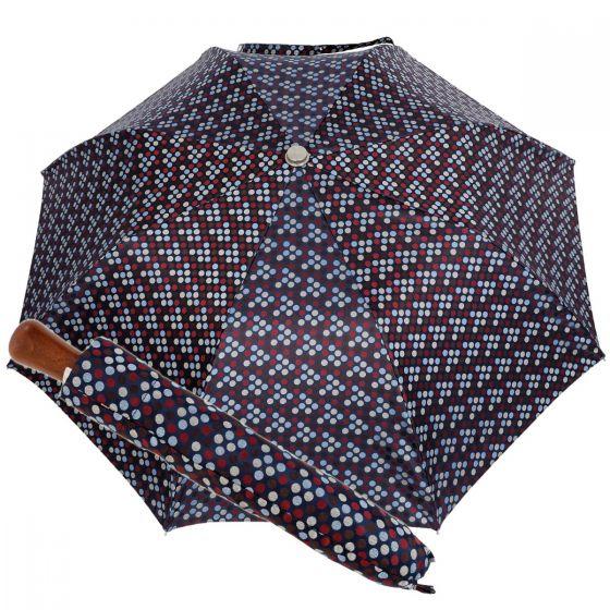 Oertel Handmade Taschenschirm - Ahorn Multi Dots blau