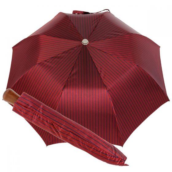 Oertel Handmade Taschenschirm - Ahorn Stripes rot-marine