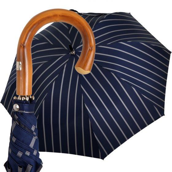 Oertel Handmade - Sport Stripes - blue-silver | European Umbrellas