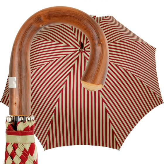 Oertel Handmade - Sport Stripes - red-beige | European Umbrellas