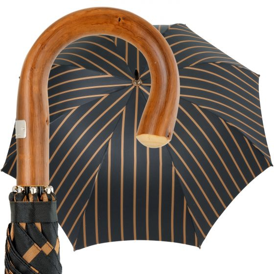 Oertel Handmade - Sport Stripes - black-beige | European Umbrellas