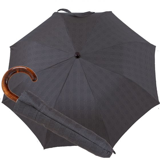 Oertel Handmade pocket umbrella maple - glencheck grey | European Umbrellas