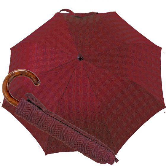 Oertel Handmade pocket umbrella maple - glencheck red | European Umbrellas